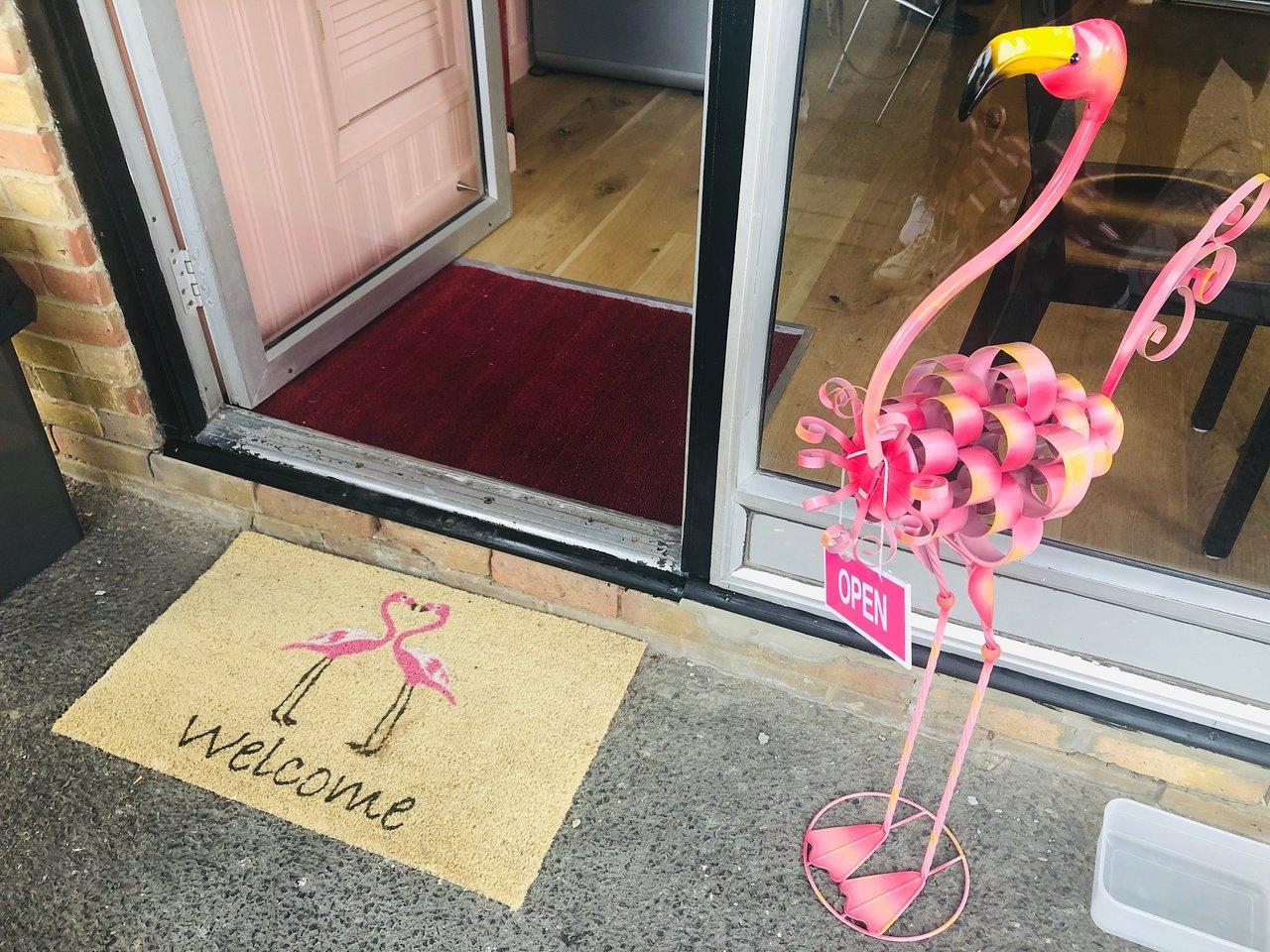 Sweet Flamingo welcome door mat